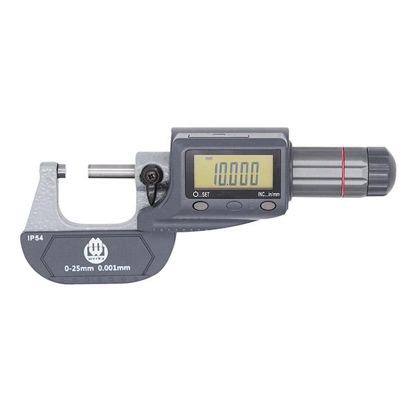 0-1″ x 0.00005″ IP54 Digital Micrometer