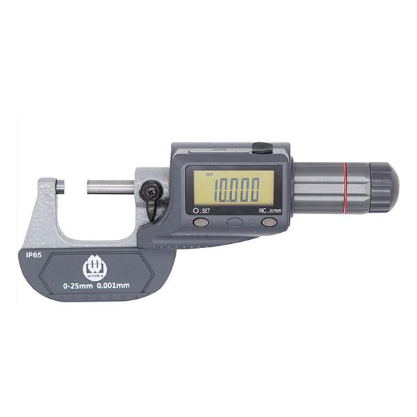 0-1″ x 0.00005″ IP65 Digital Micrometer