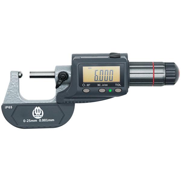 0-1″x 0.0005″ Digital Tube Thickness Micrometer