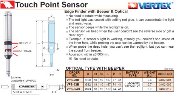 edge finder beeper light